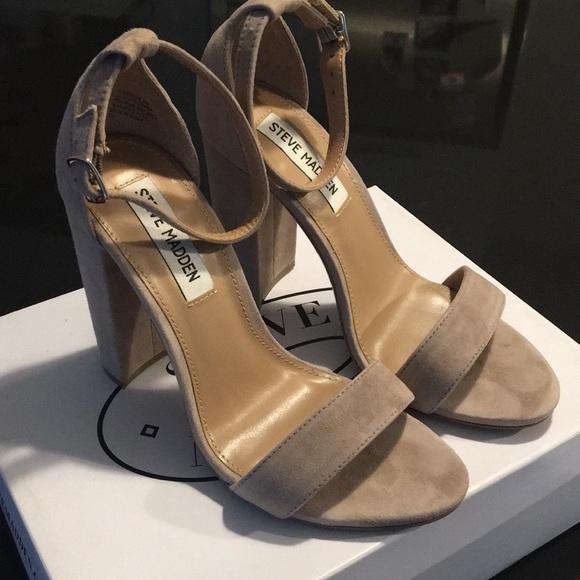 steve madden carrson sandal taupe suede